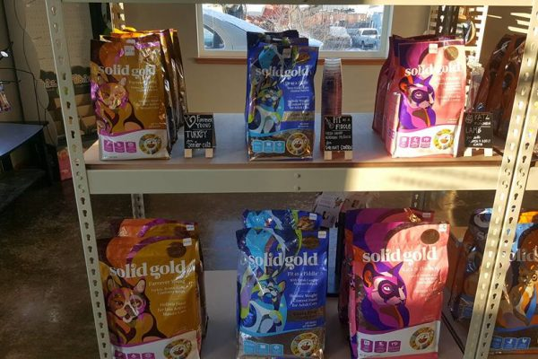 a display of pet food