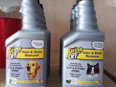 Urine stain cleaner