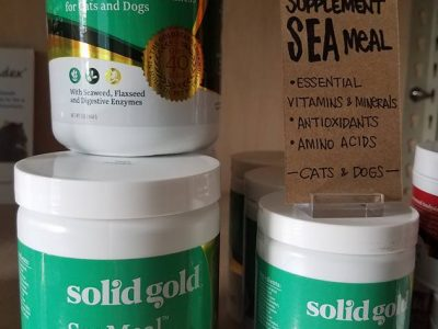 a display of pet supplements
